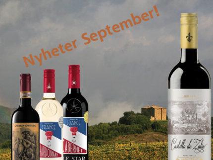 Nyheter Vinmonopolet September