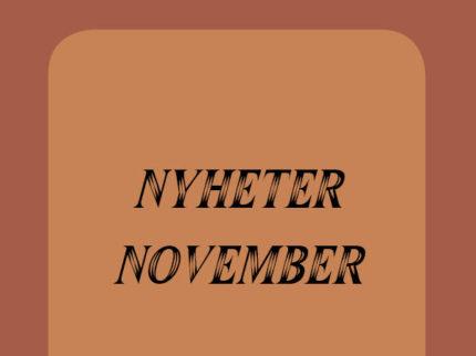 Nyheter Vinmonopolet November!