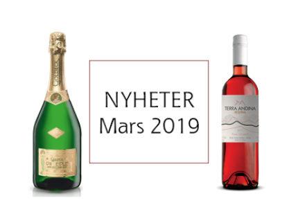 Nyheter på Vinmonopolet MARS 2019!
