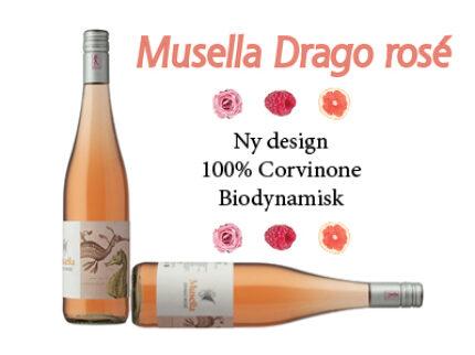 Musella Drago Rosé – ny årgang med nytt innhold og design